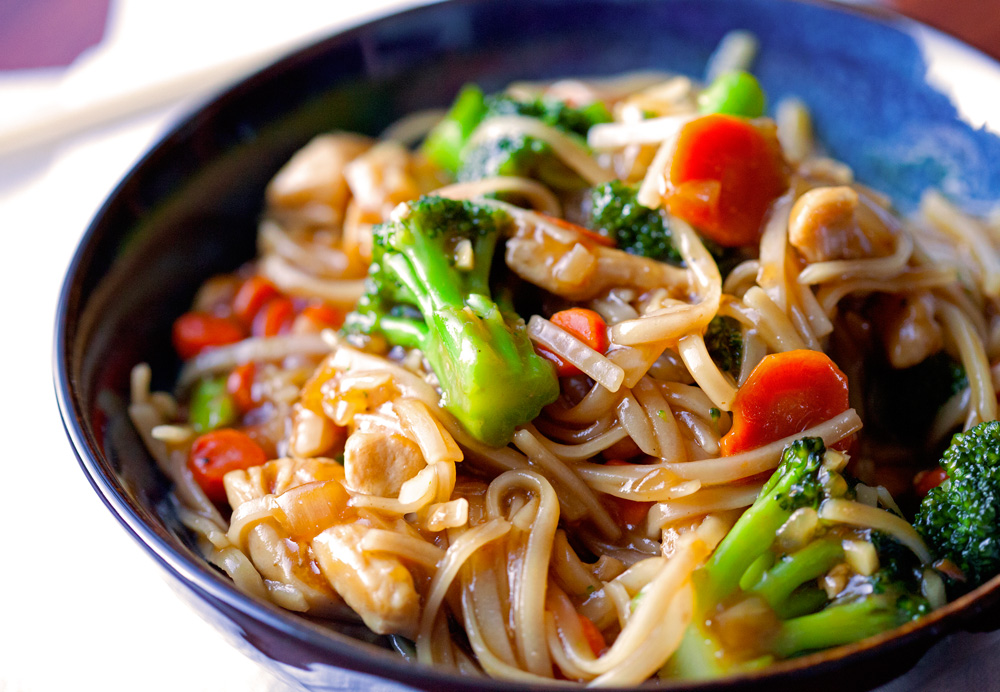 ... rice noodles i used rice noodles for this teriyaki rice noodles with