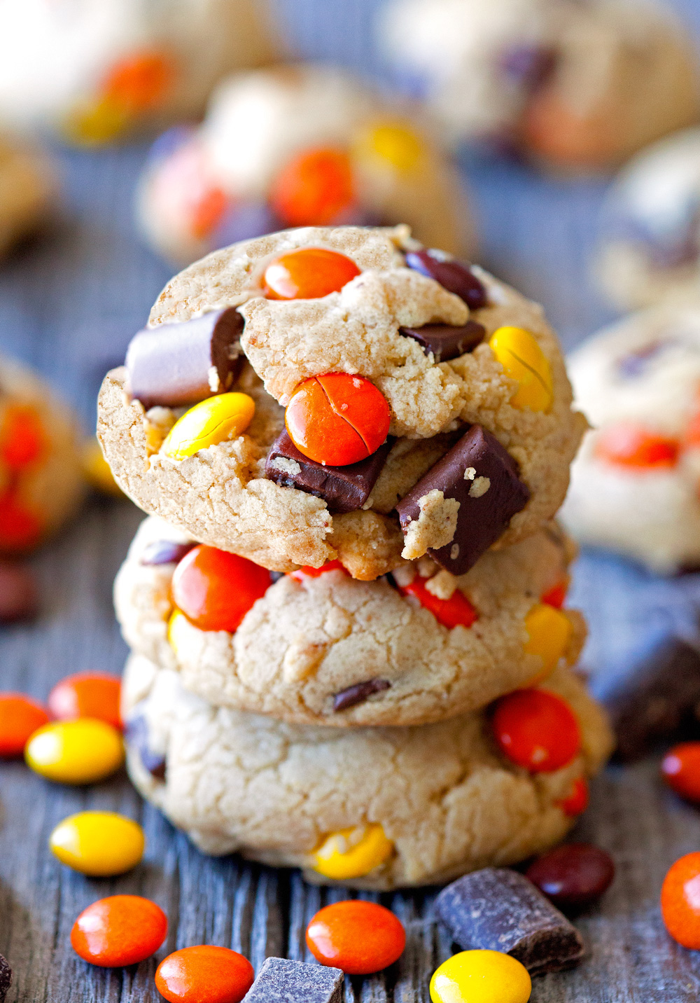 Thick and Chewy Resees Chocolate Chunk Cookies by Deliciously Yum!