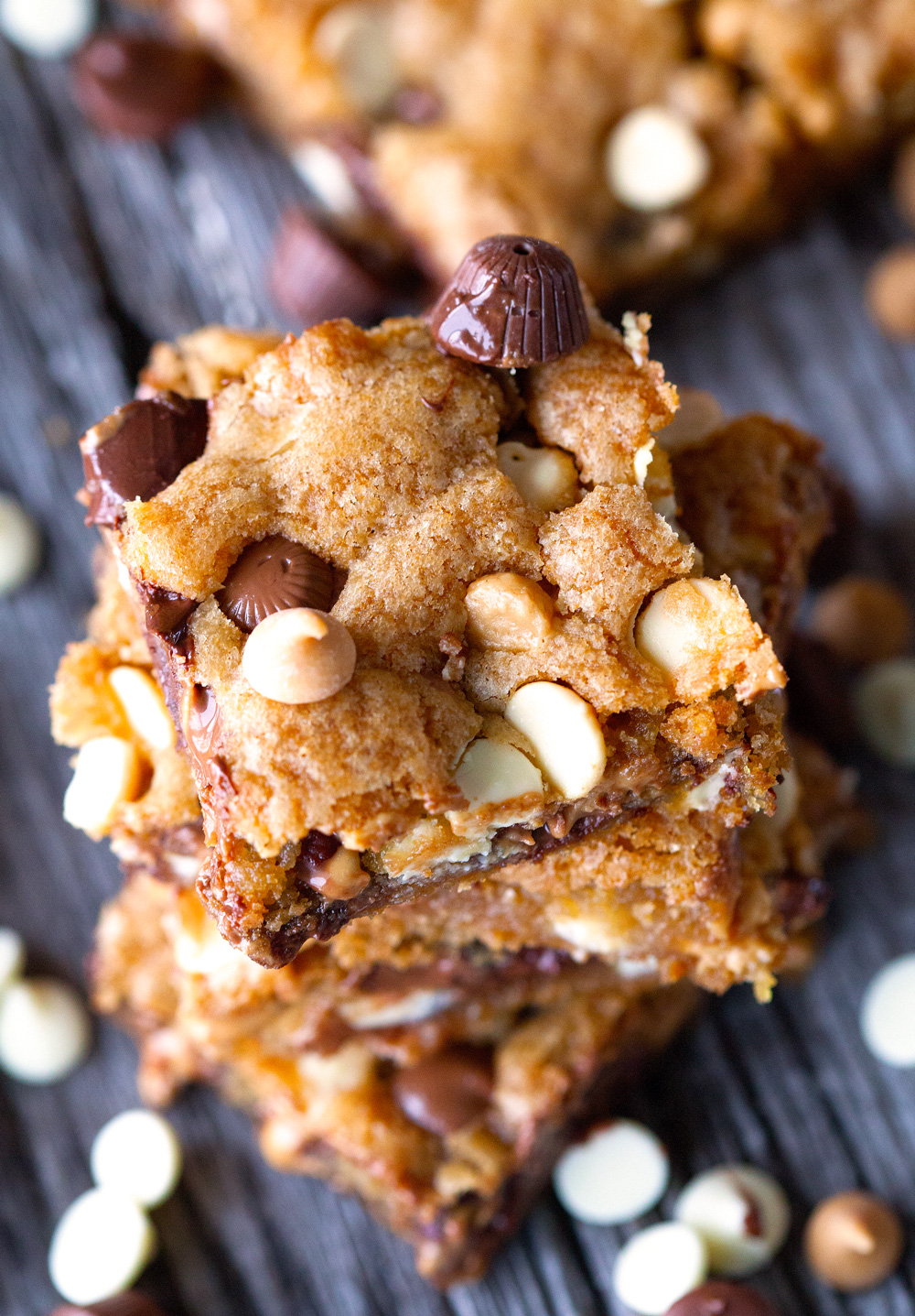 Loaded Quadruple Chip CookieBars by Deliciously Yum!