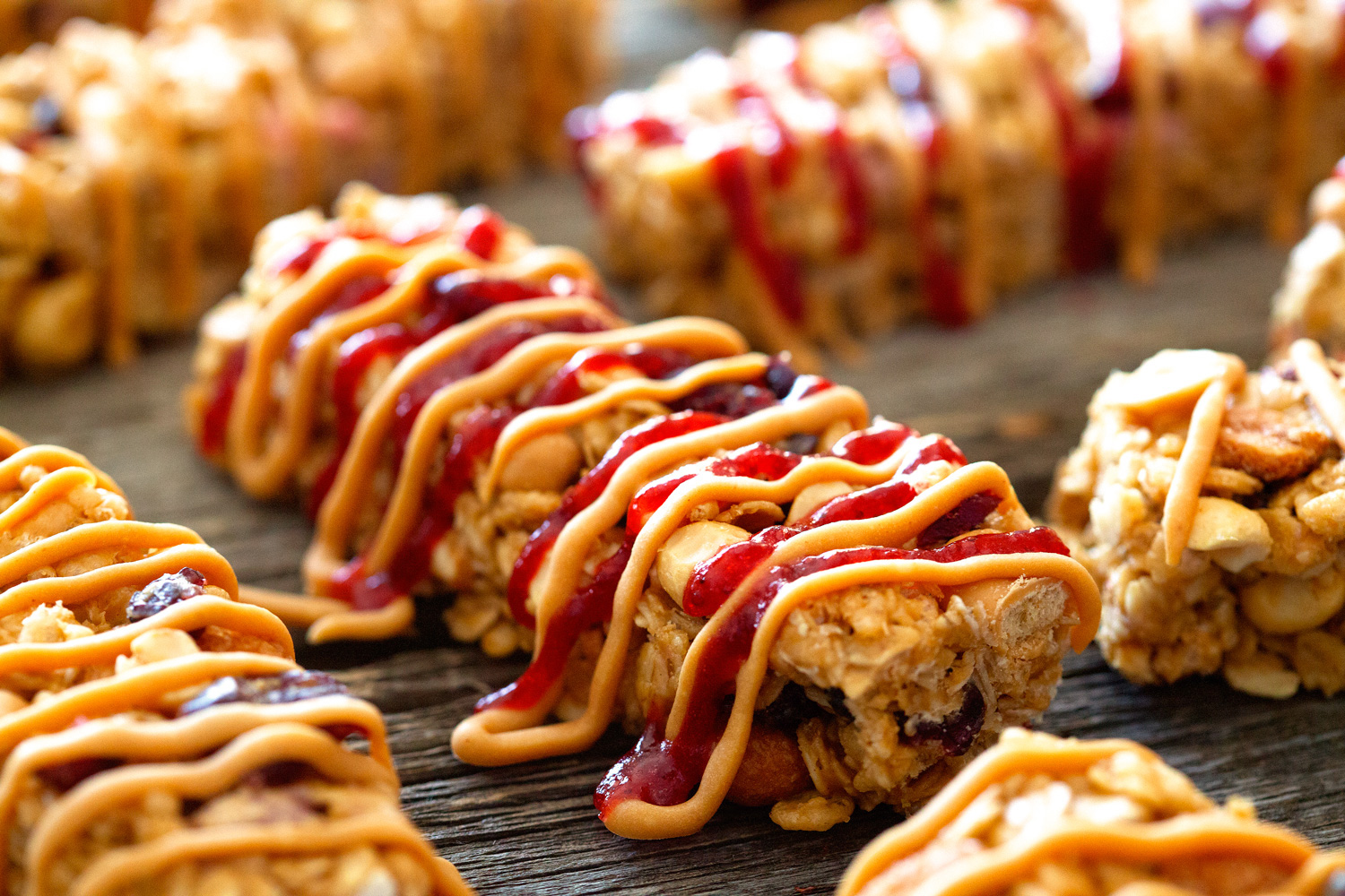 PB and J Granola Bars via Deliciously Yum!