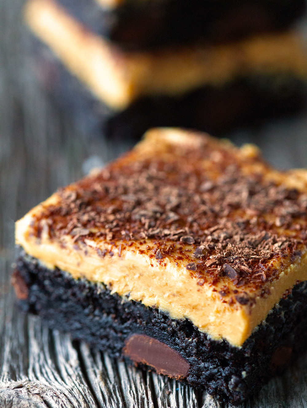 Fudgy Peanut Butter Brownies via Deliciously Yum!