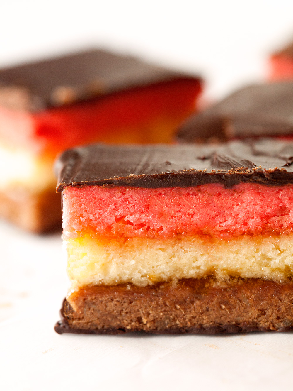 Seven Layer Neapolitan Cookies by Deliciously Yum!
