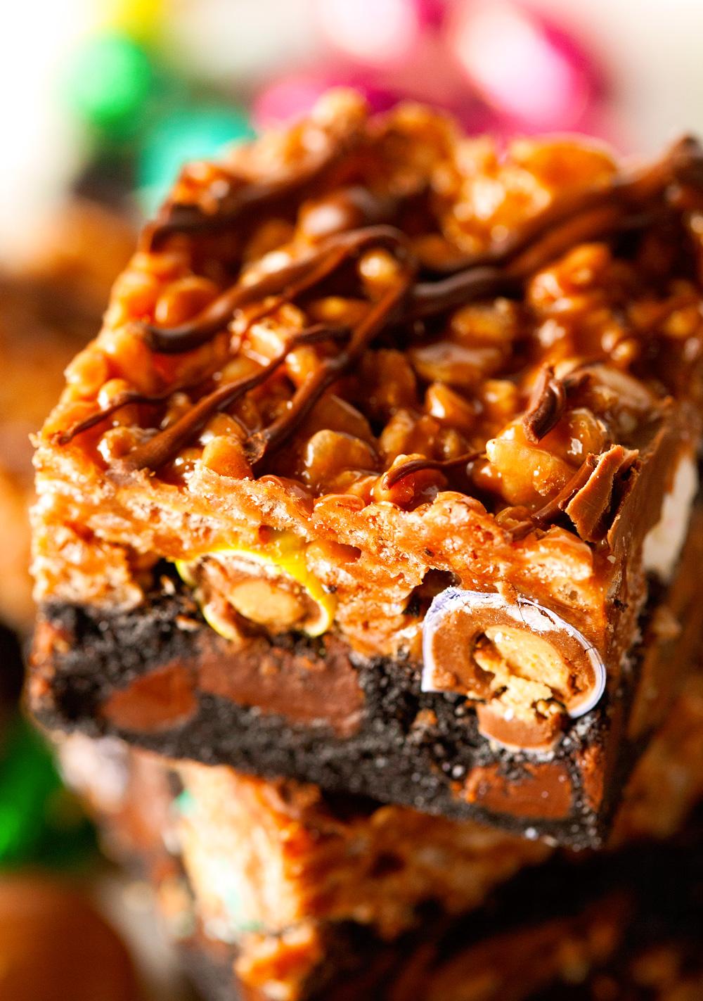 nutella-rice-krispie-easter-candy-mashup-brownies