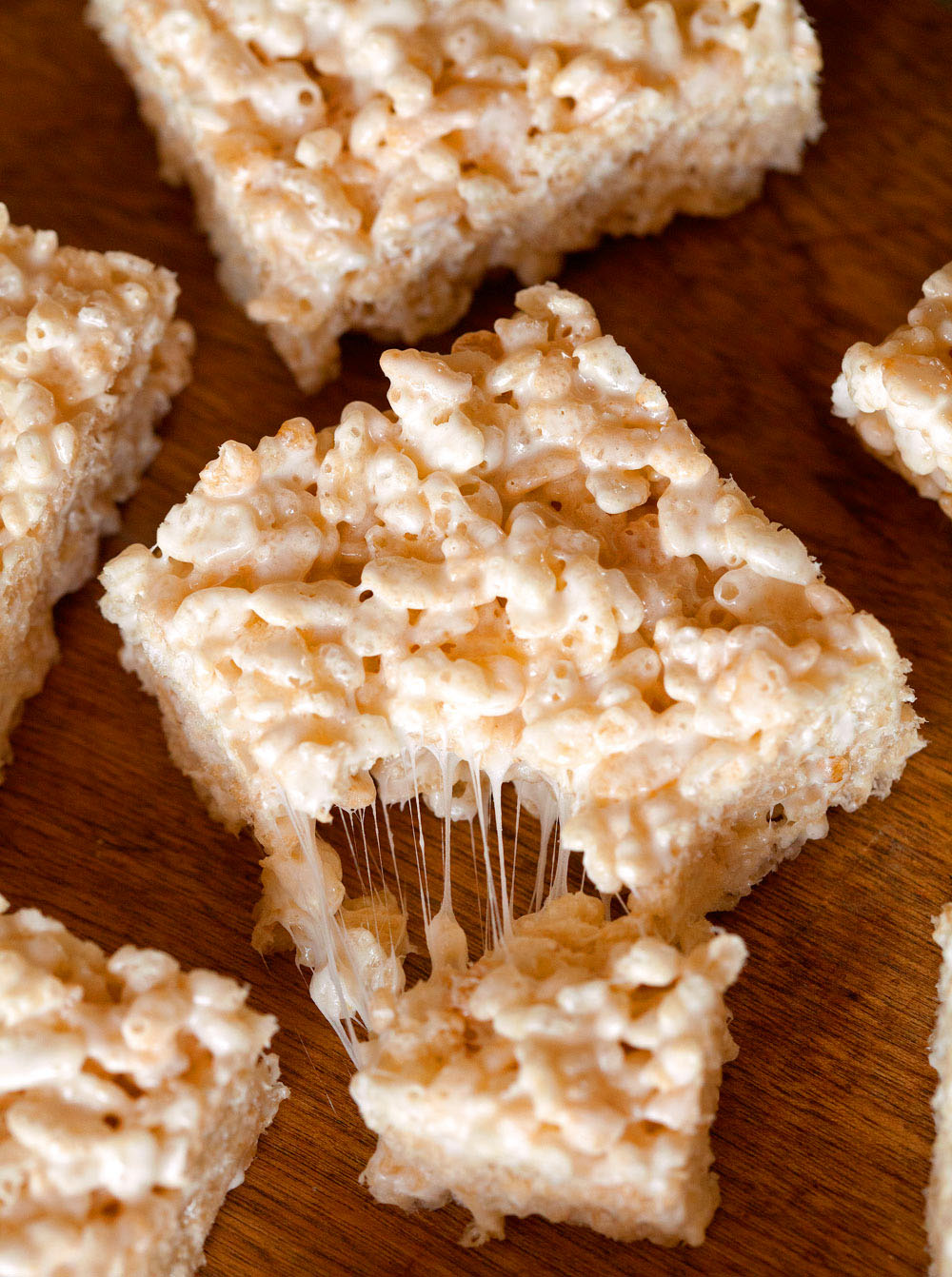 Brown Butter Rice Krispie Treats by Deliciously Yum!