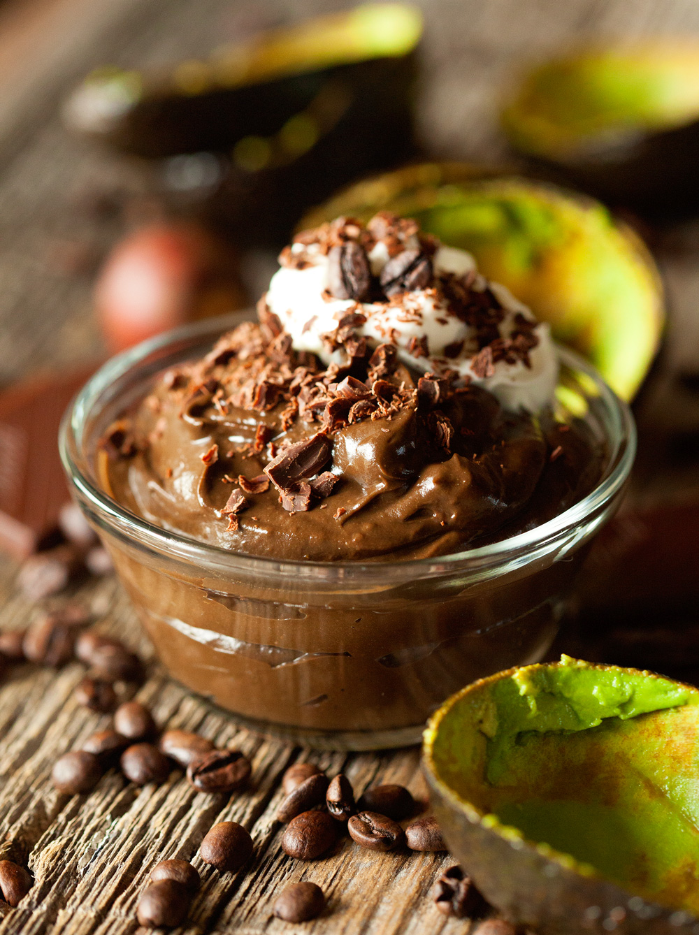 Dark Chocolate Mocha Avocado Mousse