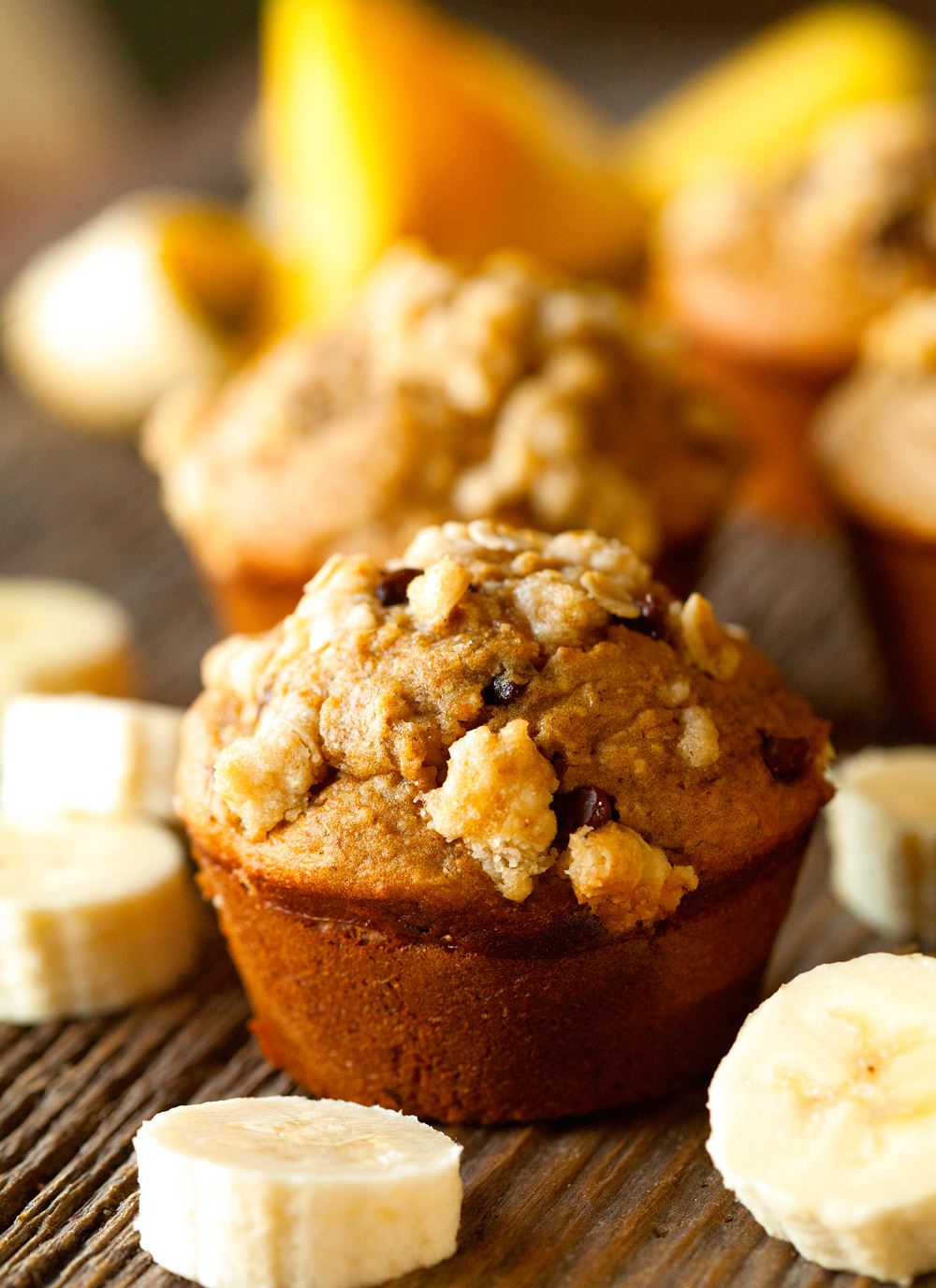 caramelized-banana-and-peanut-butter-oat-streusel-muffins