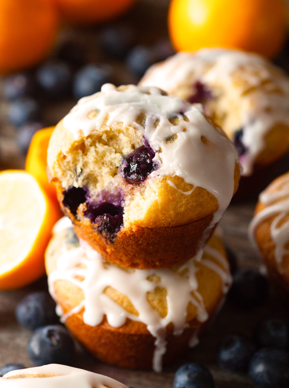 Brown Butter Blueberry Muffins via Deliciously Yum!