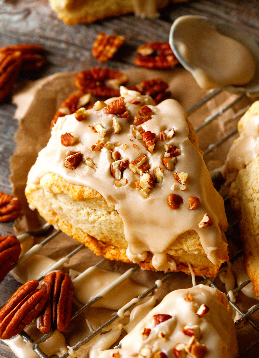Maple Nut Scones via Deliciously Yum!