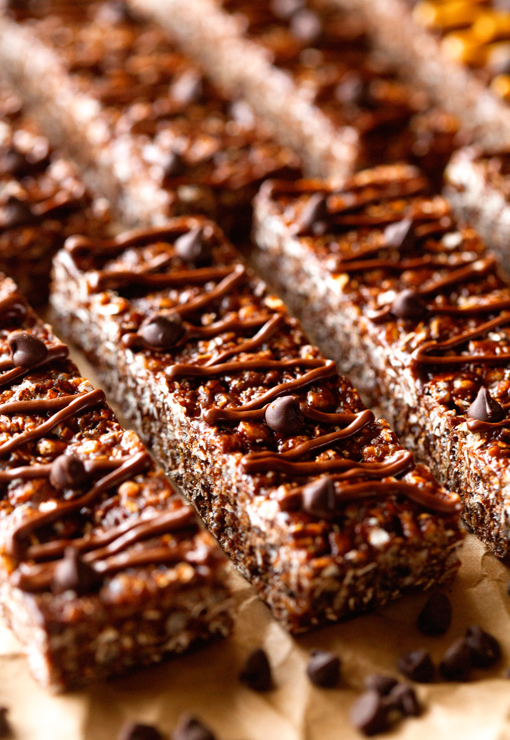 Chewy Chocolate Granola Bars