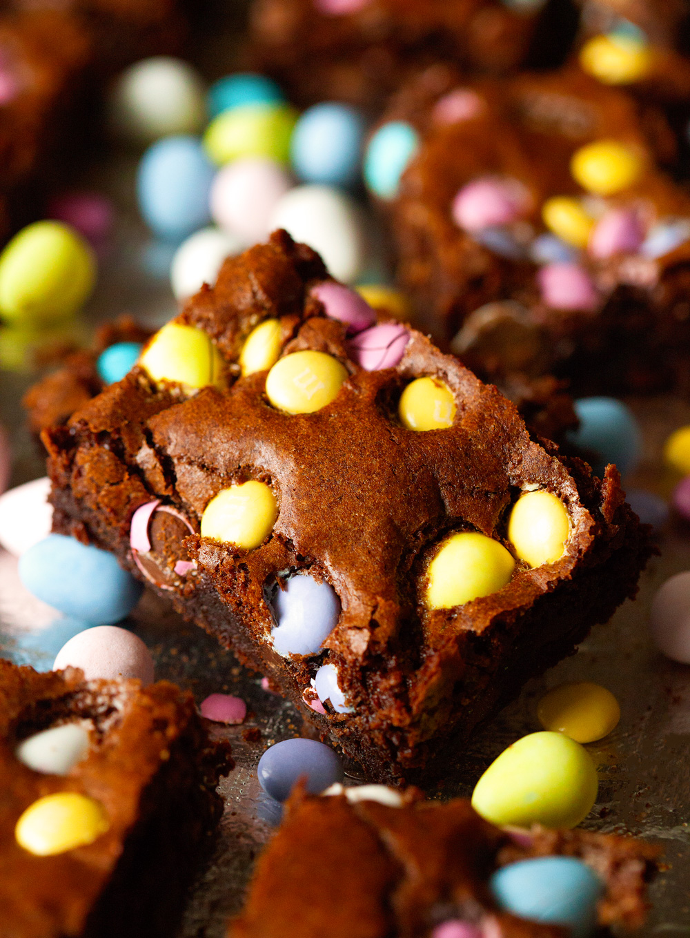 Easter Brownies via Deliciously Yum!