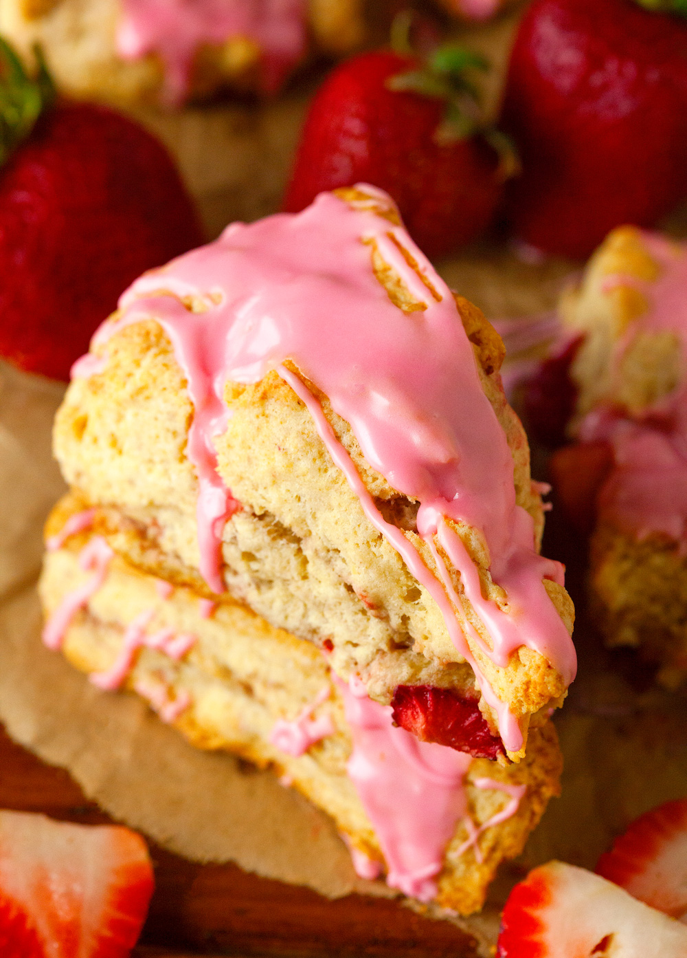 Strawberry Dream Scones via Deliciously Yum!