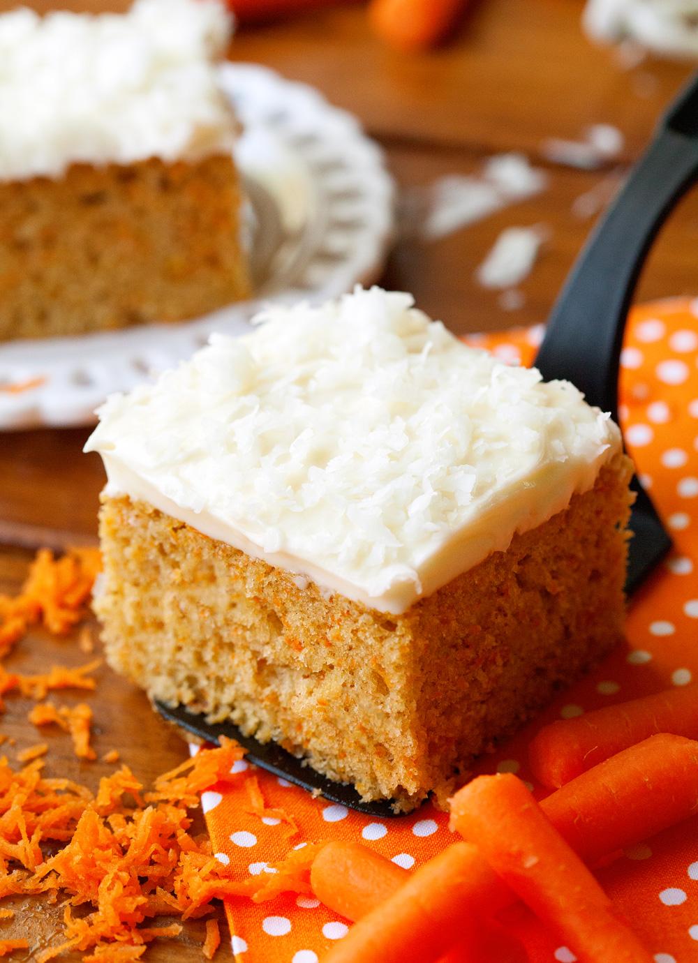 Carrot Snack Cake via Deliciously Yum!