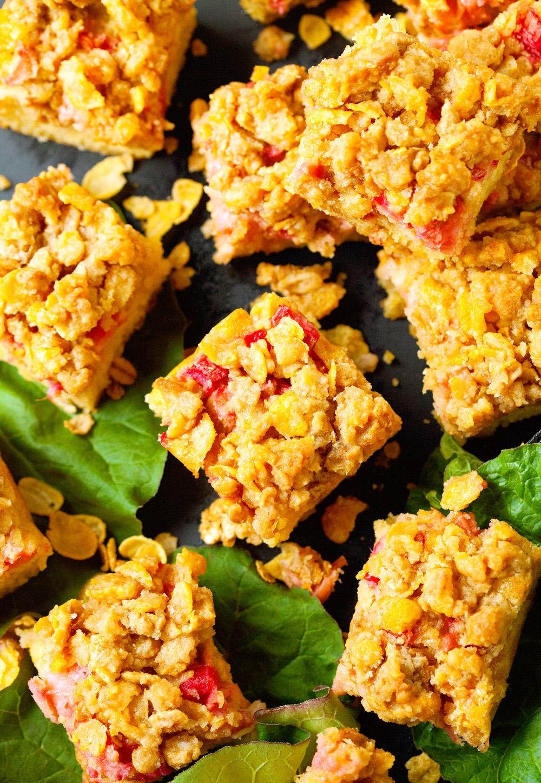 Rhubarb Crumb Squares