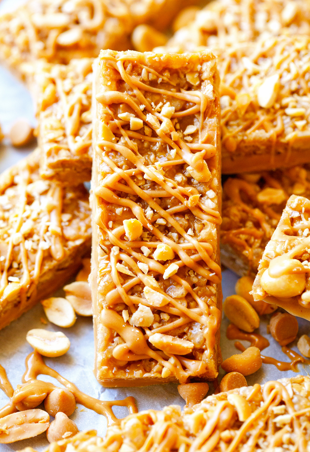 Dipped Peanut Granola Bars
