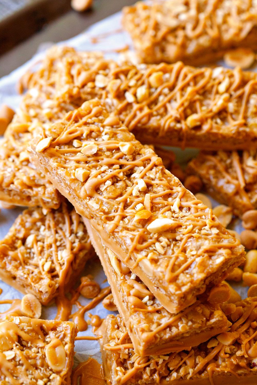 Dipped Peanut Granola Bars
