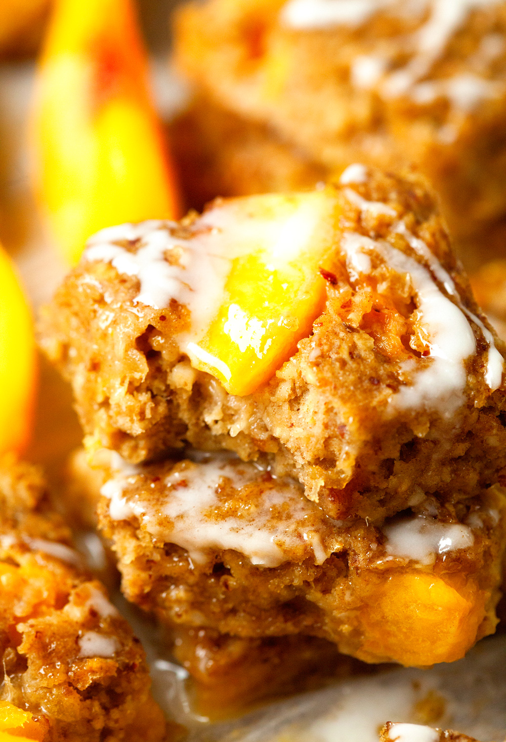 Peaches and Mango Breakfast Bars