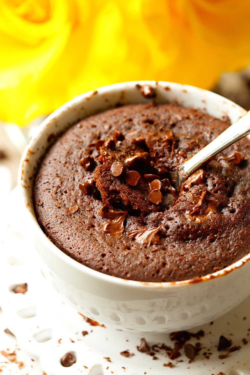 Gooey Chocolate Mug Cake