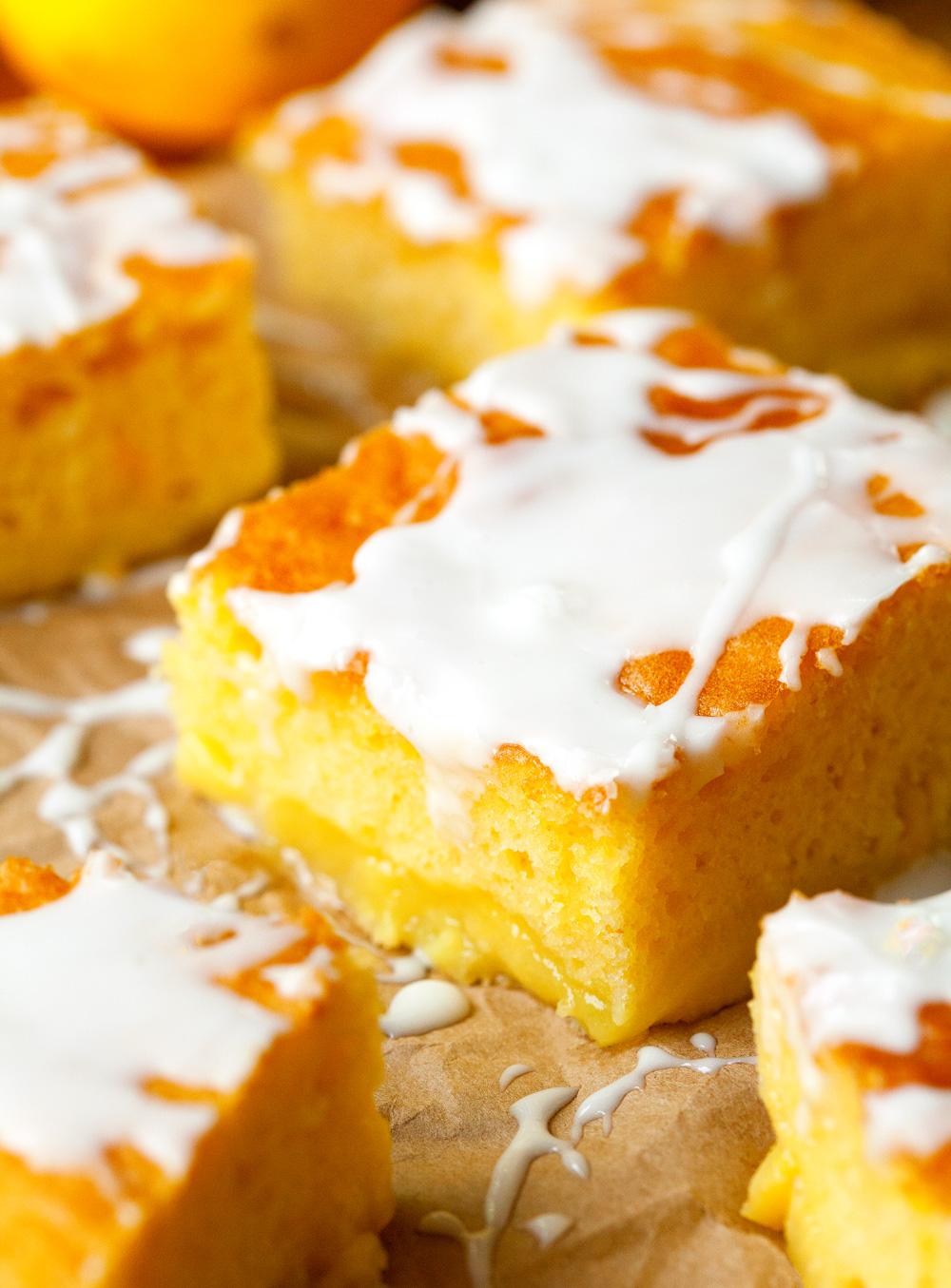 Glazed Lemon Pudding Cake