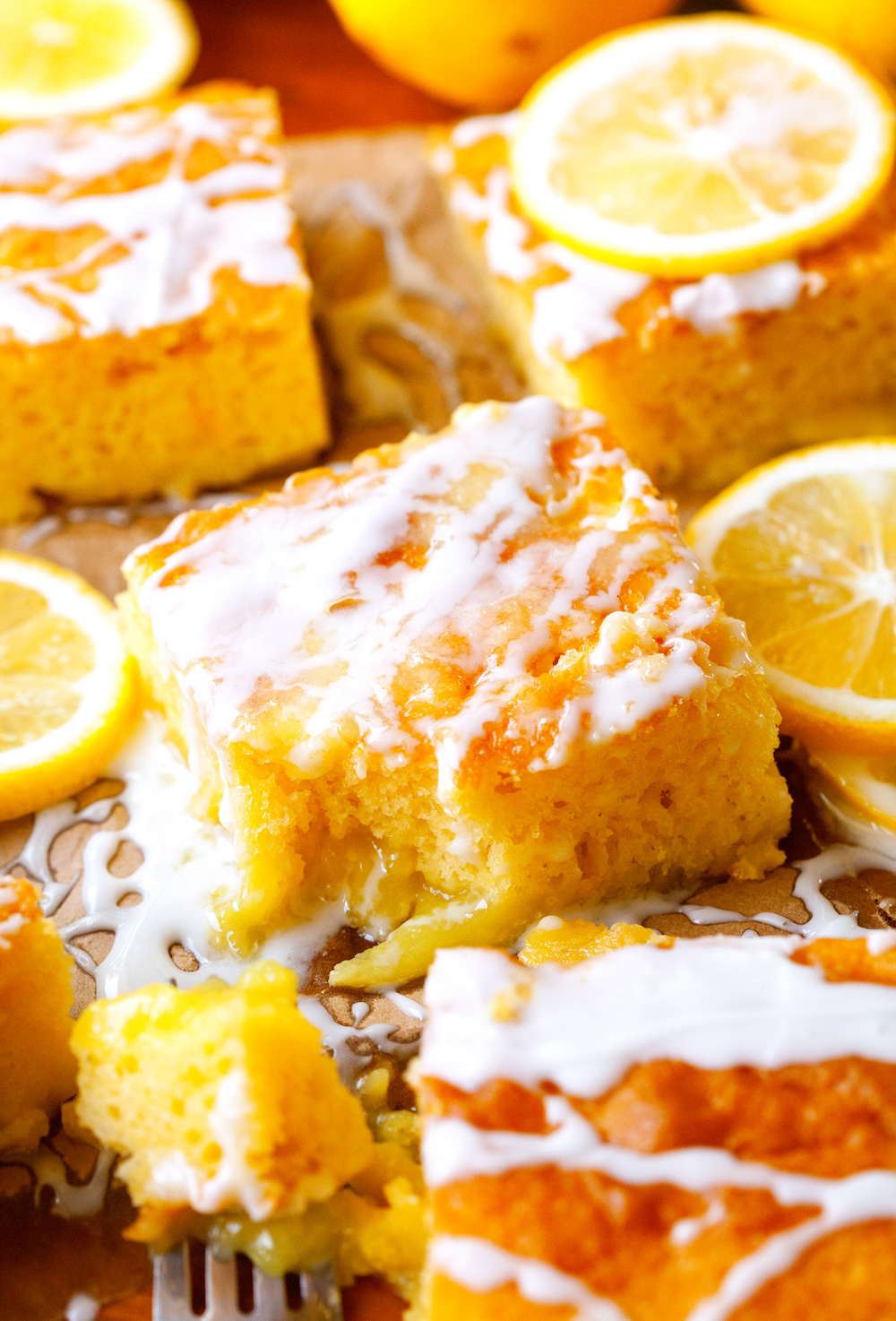 Glazed Lemon Pudding Cake