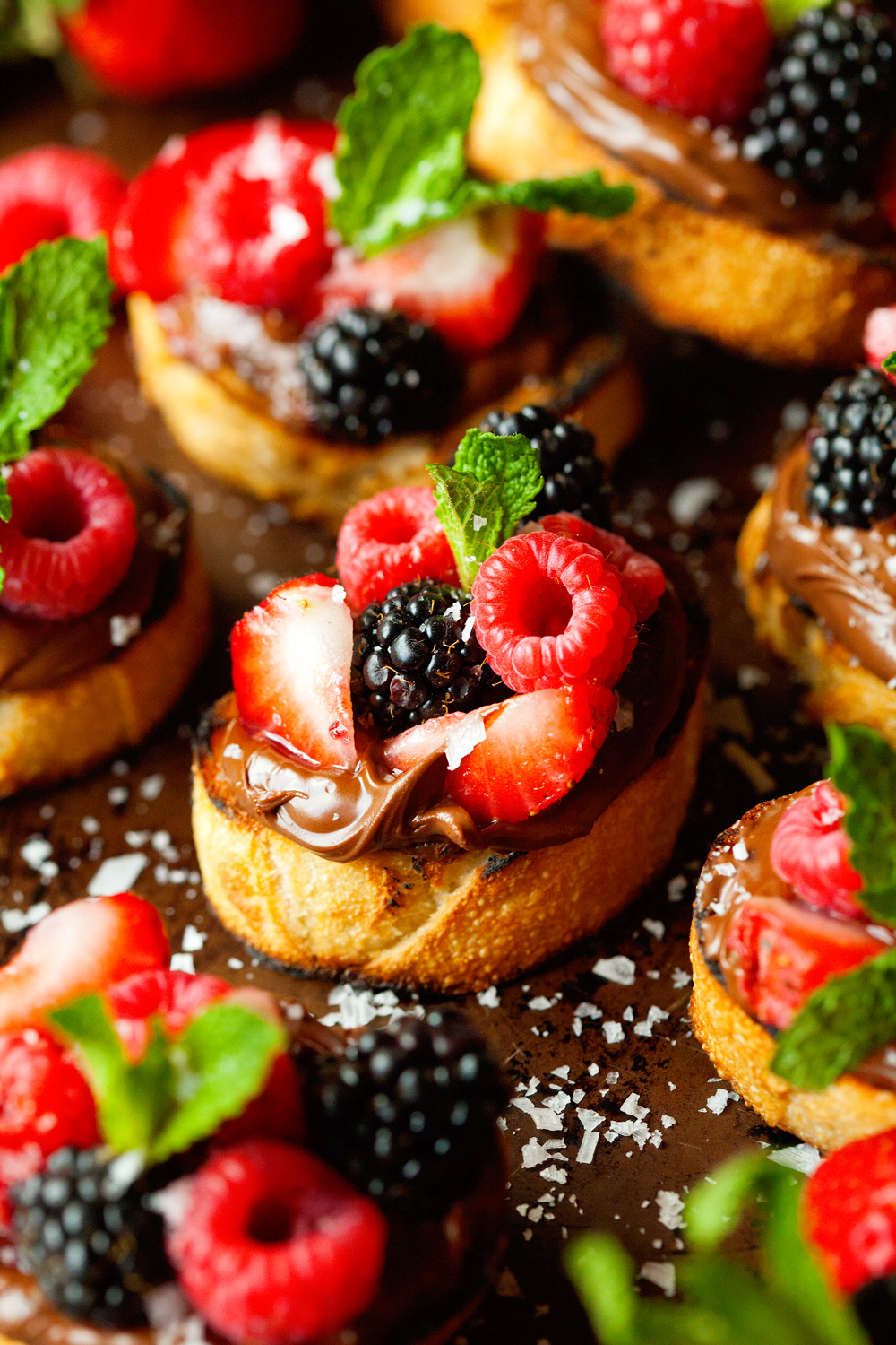 Nutella Berry Crostini