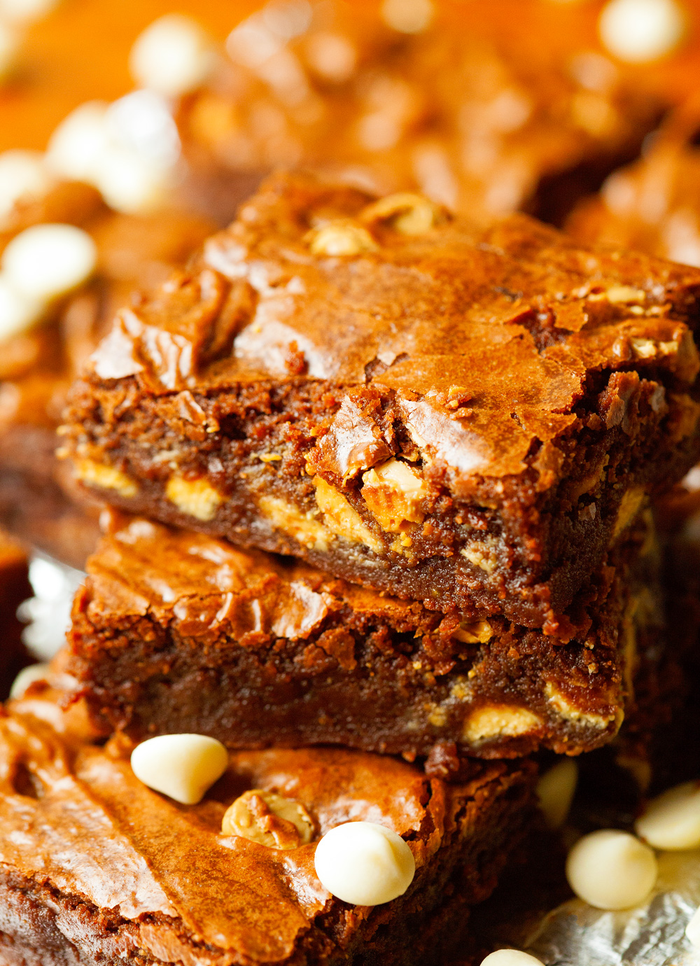 One Bowl Homemade Chocolate Chunk And Toffee Chip Brownies Recipe ...