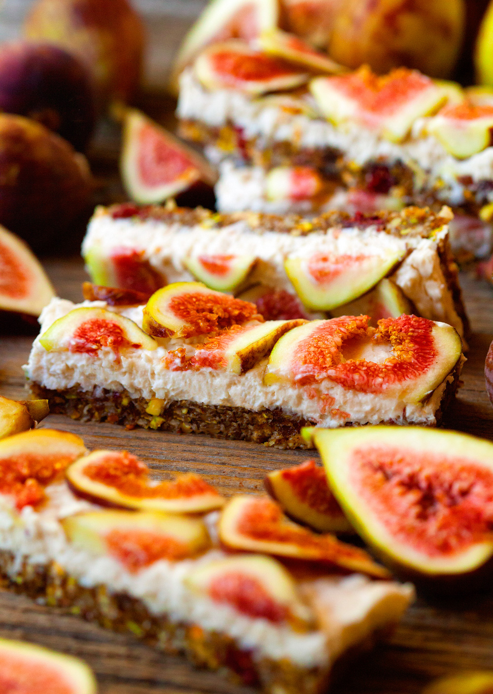 Cheesecake Fig Slice
