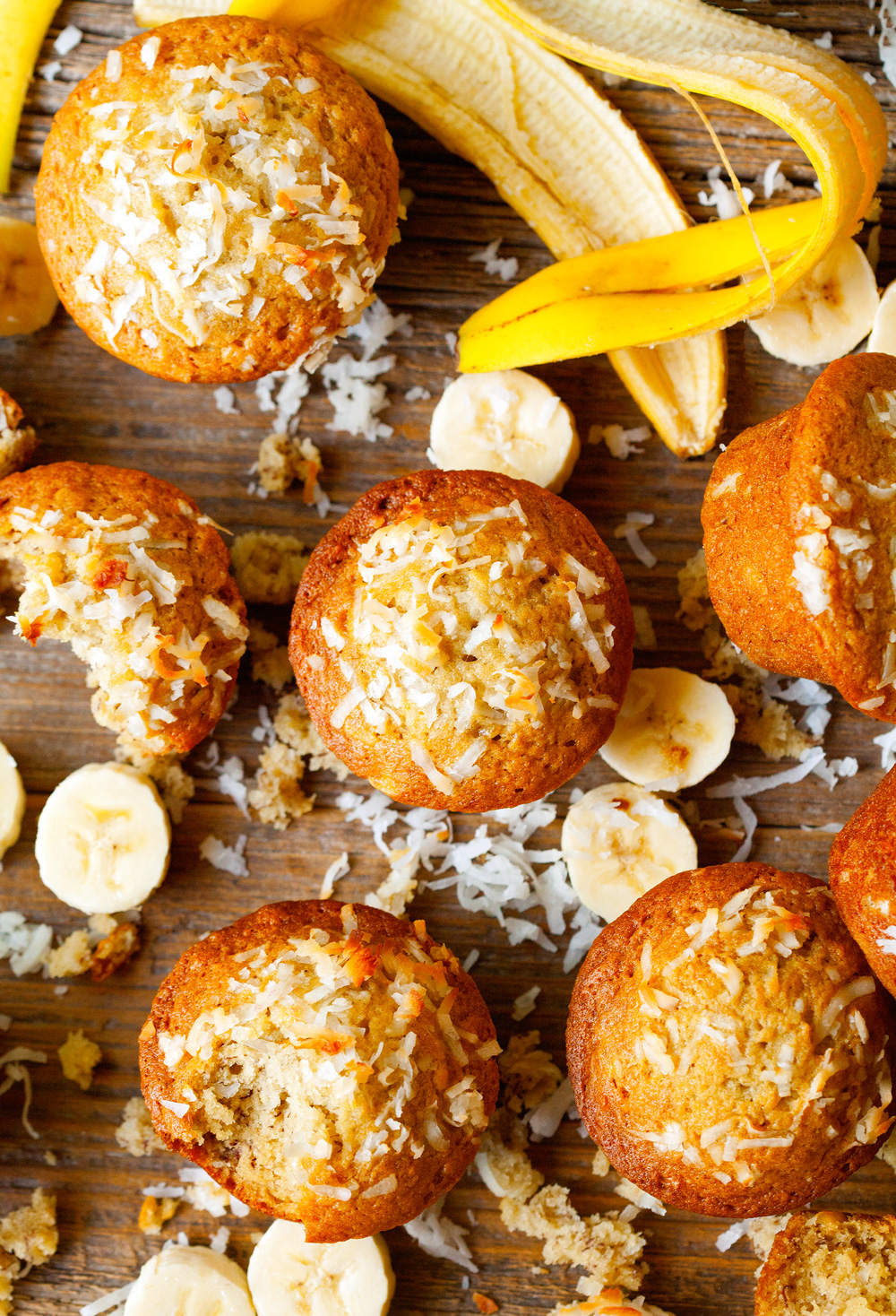 Coconut Oil Banana Muffins